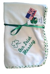 Micro Chamois Our Irish Blessing Blanket
