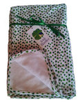 Irish Bundles Shamrock Receiving Blanket 100% Cotton 2ply